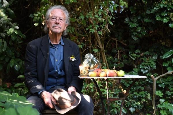 Peter Handke w swoim ogrodie, 10 października 2019