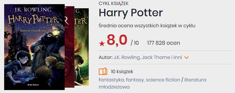 Okładki książek z cyklu Harry Potter J.K. Rowling