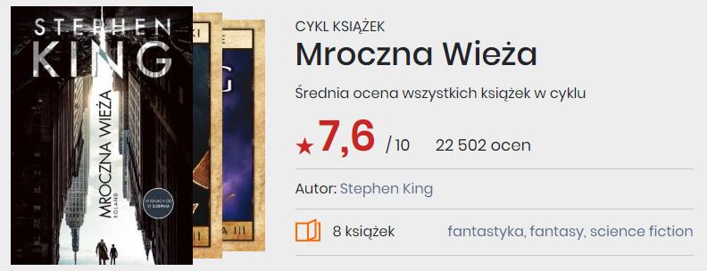 Okładki książek z cyklu Mroczna wieża, Stephen King