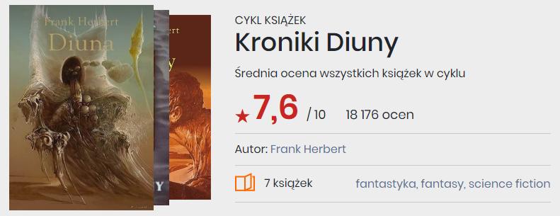 Okładki książek cyklu Kroniki Diuny Franka Herberta
