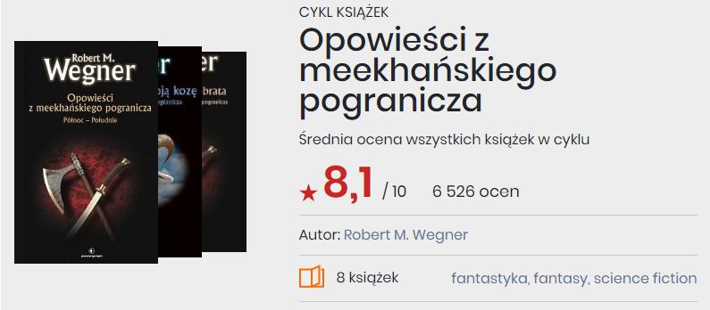 Okładki książek z cyklu Opowieści z meekhańskiego pogranicza, Robert M. Wegner