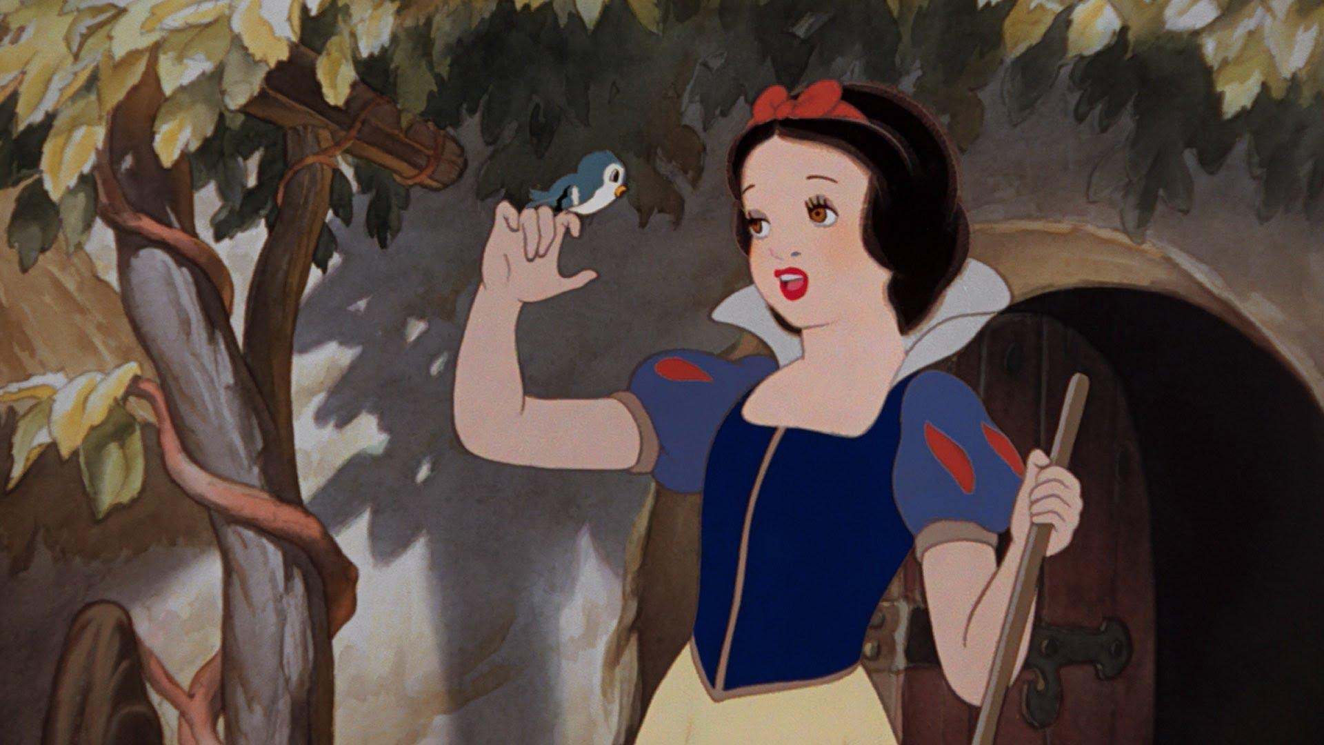 Fragment z animacji Disneya Królewna Śnieżka i siedmiu krasnoludków.