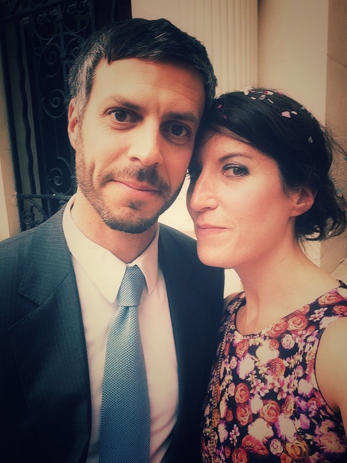 Zoë Folbigg wraz z mężem, Markiem