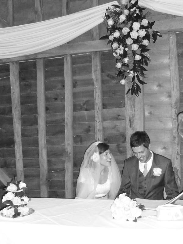 Zoë Folbigg na swoim ślubie z Mężczyzną z Pociągu