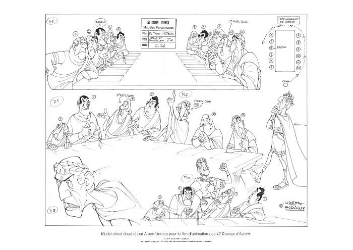 Asteriks i Obeliks na rysunku z komiksu