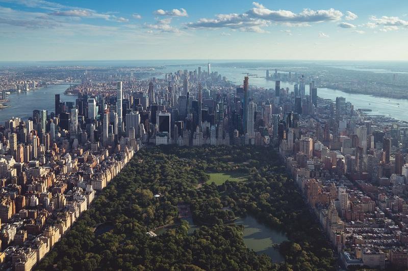 Widok na Manhattan, Central Park, NY