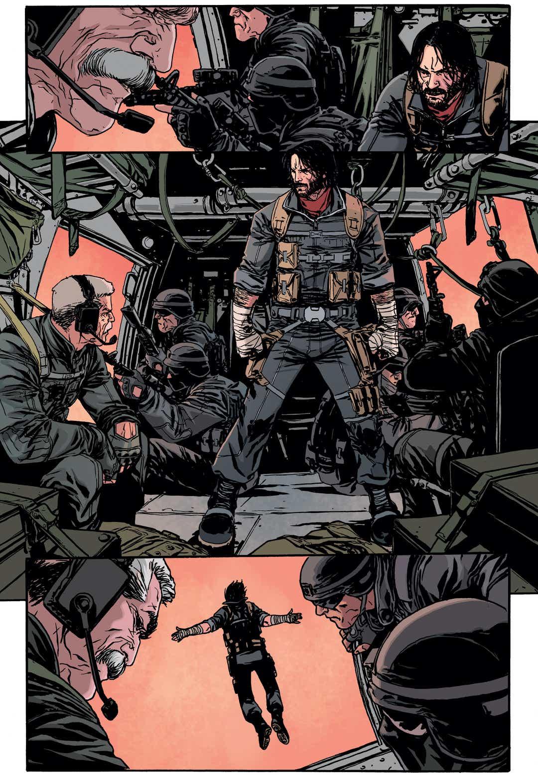 Kadr z komiksu Keanu Reevesa