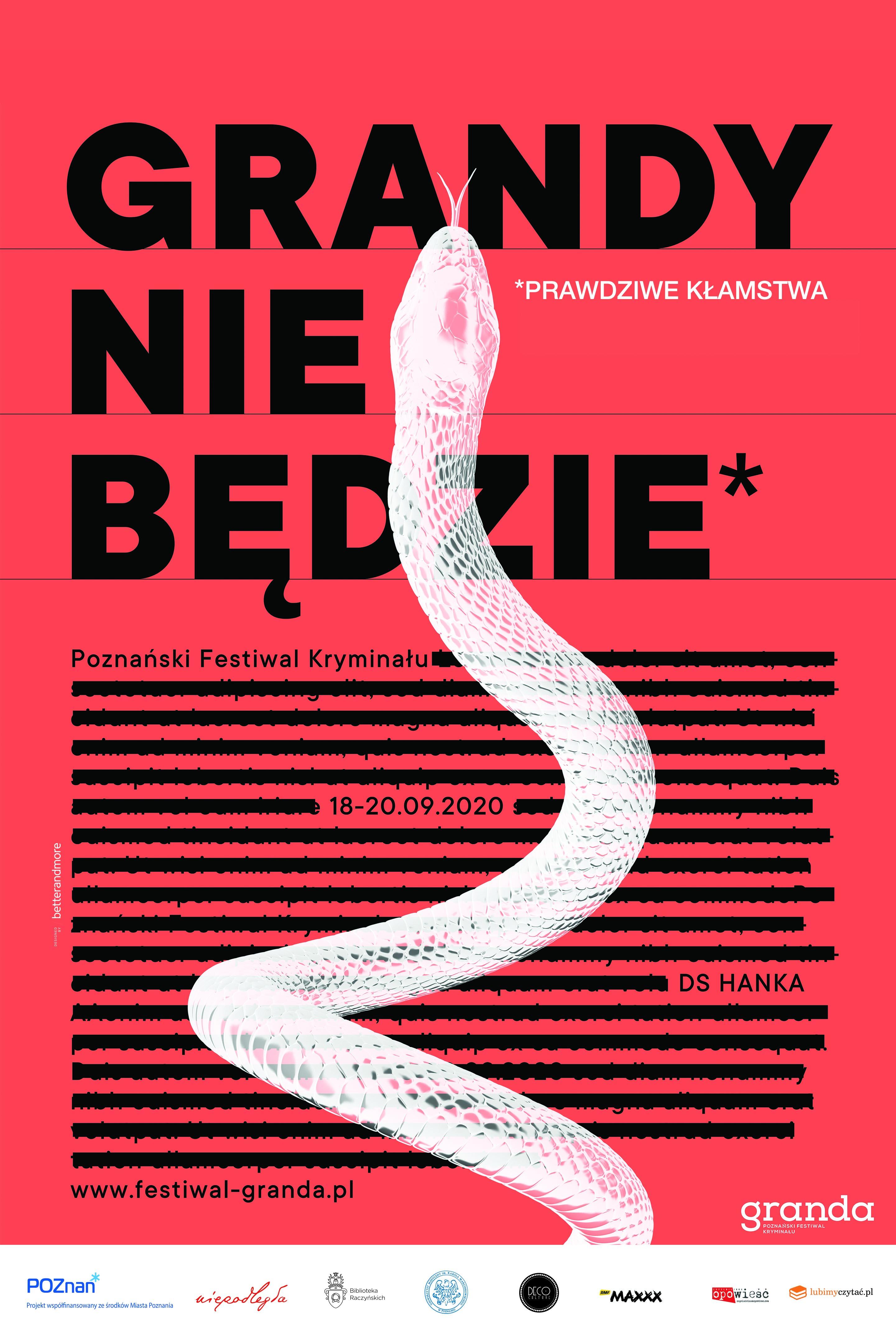Plakat Festiwalu Granda 2020
