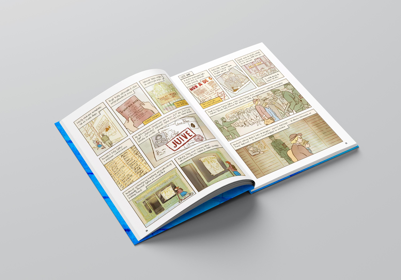Wnętrze powieści graficznej Biały ptak