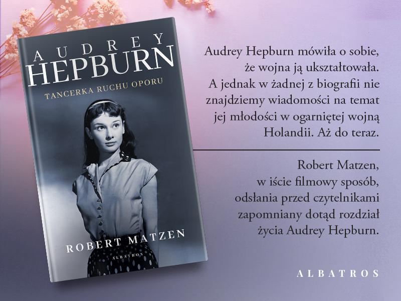 Opis i okładka biografii Audrey Hepburn
