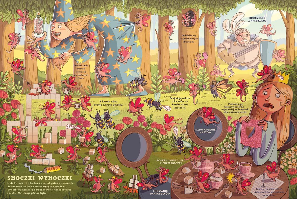 Wnętrze książki Fakty i plotki o smokach