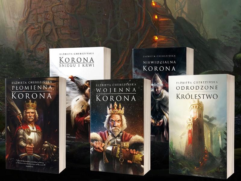 Książki Elżbiety Cherezińskiej z cyklu Odrodzone Królestwo