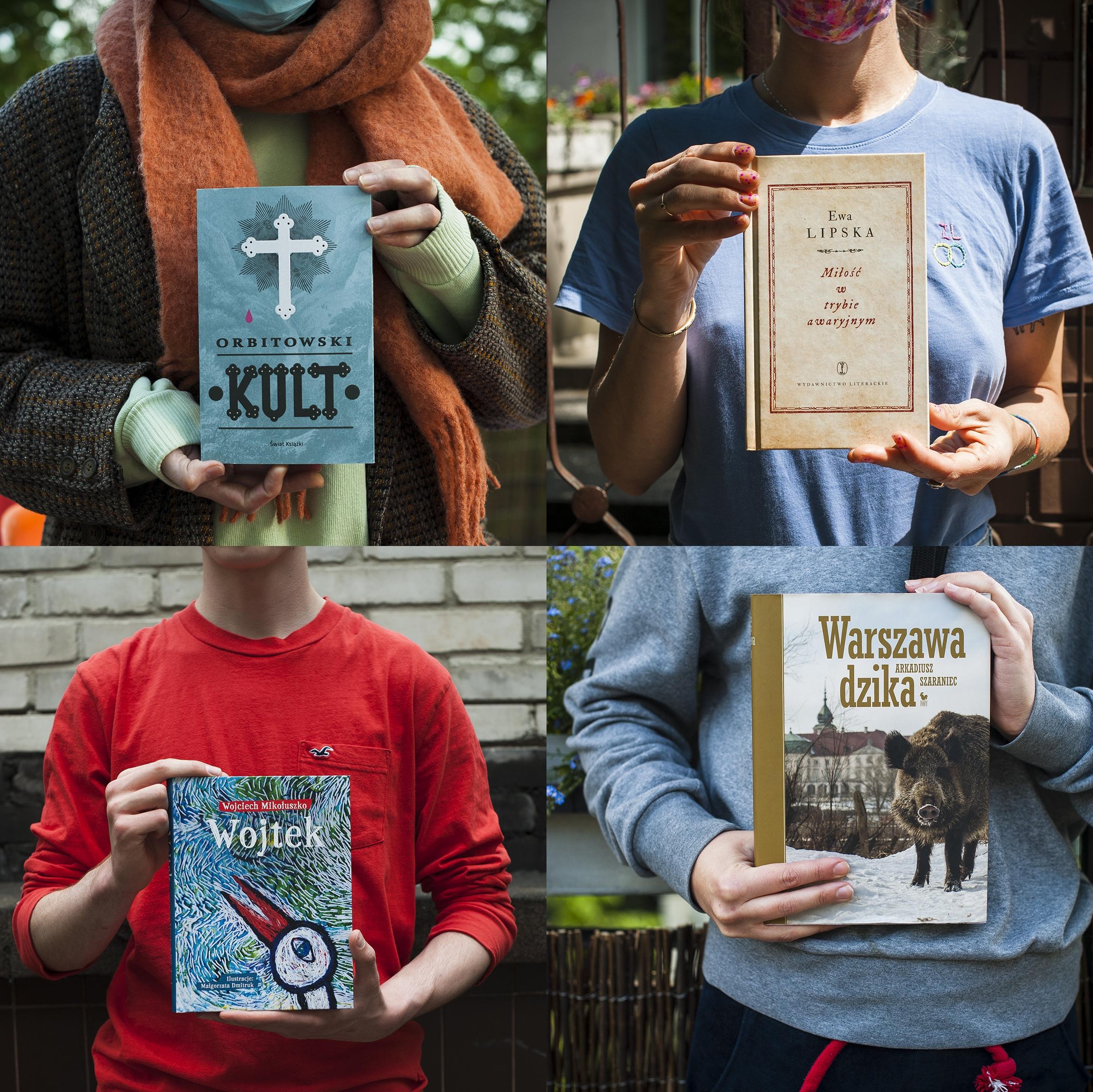 Okłądki książek nagrodzonych w 13. edycji Nagrody Literackiej Miasta st. Warszawy