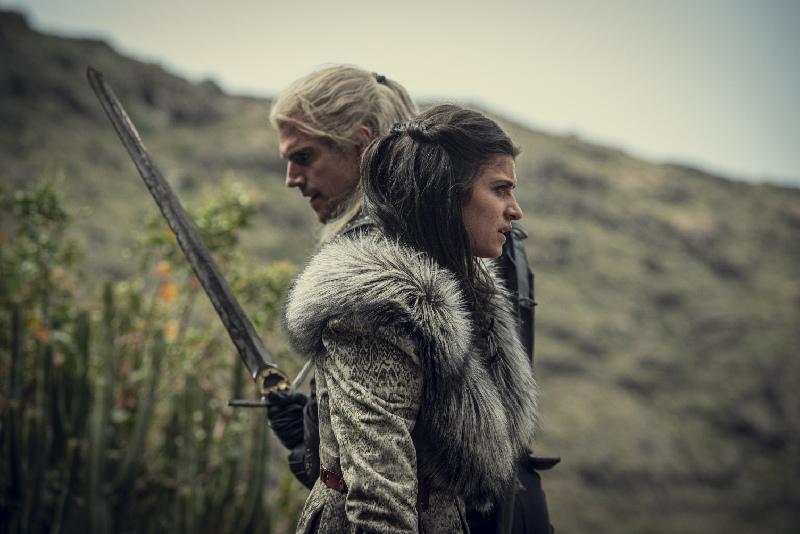 Wiedźmin Geralt i Yennefer - fotos z serialuNetflixa