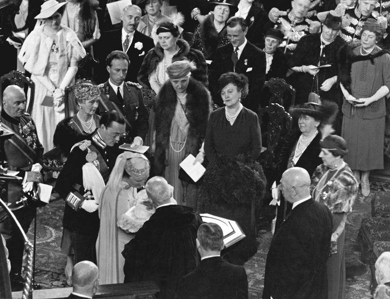 Chrzest księżniczki Beatrix w Grote Kerk w Hadze, 12 maja 1938 roku
