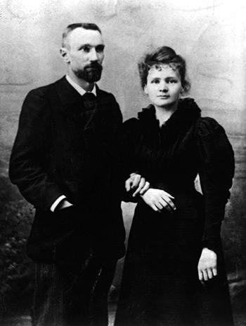 Maria Curie i Piotr Curie
