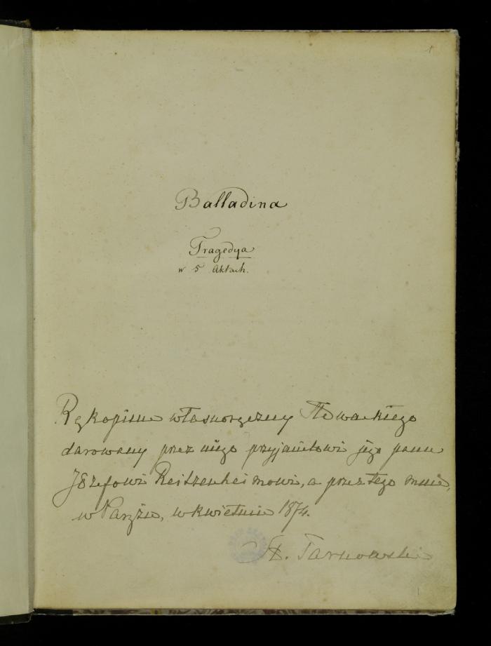 Rękopis Balladyny