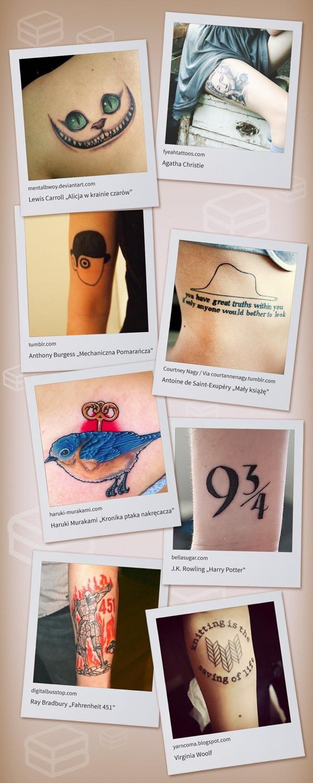 8 Tatuaży Inspirowanych Literaturą Lubimyczytaćpl